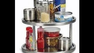 Lazy Susan 2 Tier Kitchen Spice Turntable