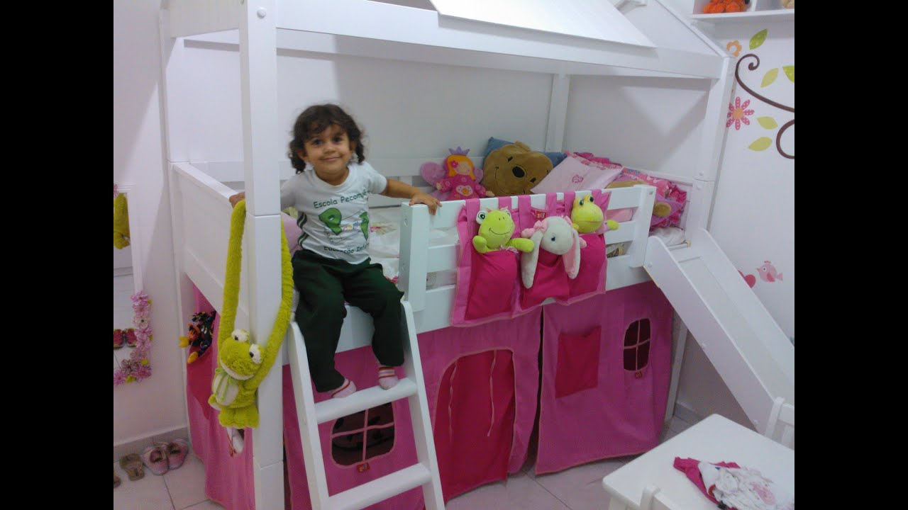 Quarto Novo da Sarah Cama com Escada Escorregador e Cabana  #827822 3000 2250
