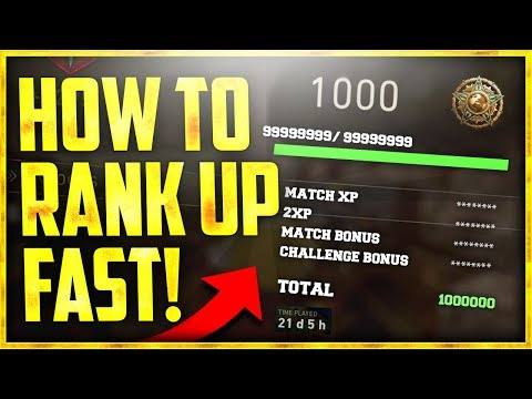 """HOW TO RANK UP """"CRAZY"""" FAST... (FASTEST LEVEL 1000 IN WW2!)"""