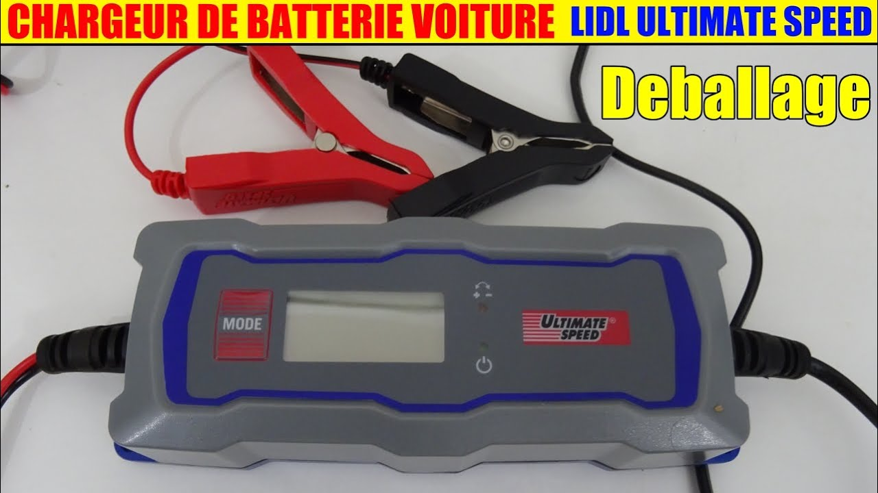 chargeur de batterie voiture lidl ultimate speed moto car
