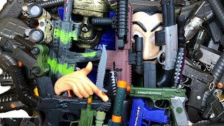 Box of Toys  Army Military Toy Guns Realistic - Toy Weapons and Equipments
