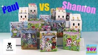 Paul vs Shannon Tokidoki Edition Moofia Unicornos Hello Kitty Unboxing | PSToyReviews