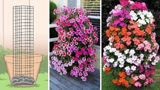 Easy To Make Petunia Tower That Will Get Your Neighbours Talking