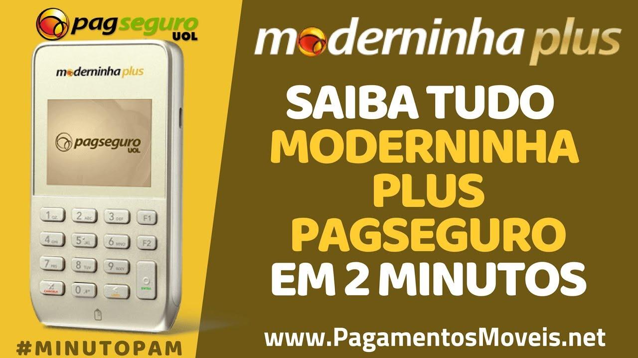 19d292da0 Moderninha PLUS PagSeguro - Taxas, Cartões, Preço - É Boa? #MinutoPAM