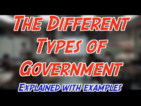 Let's Learn Government Part 2 : The Types of Government