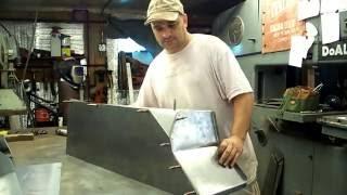 Willys CJ3B Jeep body fabrication- spot welding wheelhouse panels Part 2