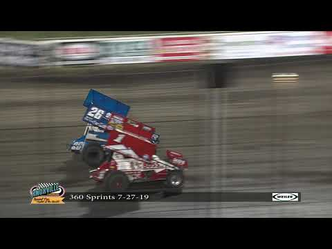 Knoxville Raceway 360 Highlights - July 27, 2019