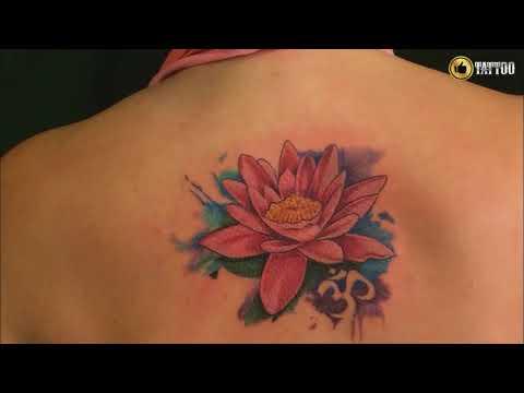 Best Back Lotus Tattoo Design Idea