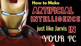 Wie man Künstliche Intelligenz wie jarvis in Ihrem pc hindi Von Vinod Singhania