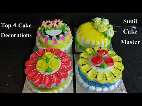 top 4 amazing cake decorating tutorial | Painepple Cake | Sunil Cake Master🎂