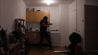 Martial arts Pivot power punch from the side slow motion analysis 0.125 speed