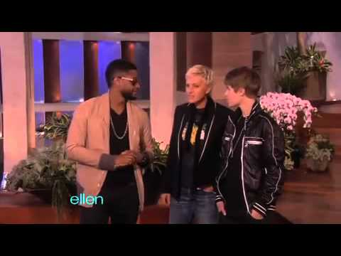 Usher Surprises Justin Bieber -- and the Entire Audience! - The Ellen Show