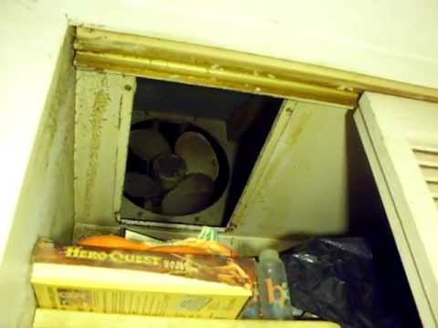 Vintage Emerson Whole House Fan Youtube