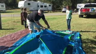 Coleman Signal Mountain Instant Camping Tent Set Up and review