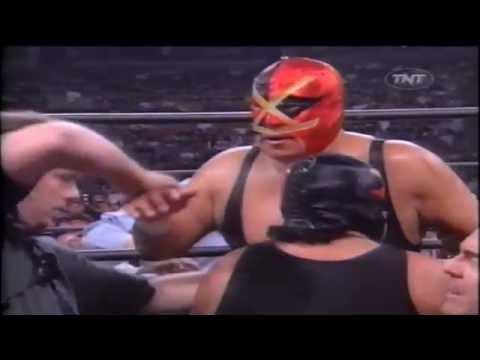 Kanyon and Raven Nearly Break Villano IV's Neck (WCW 1998)