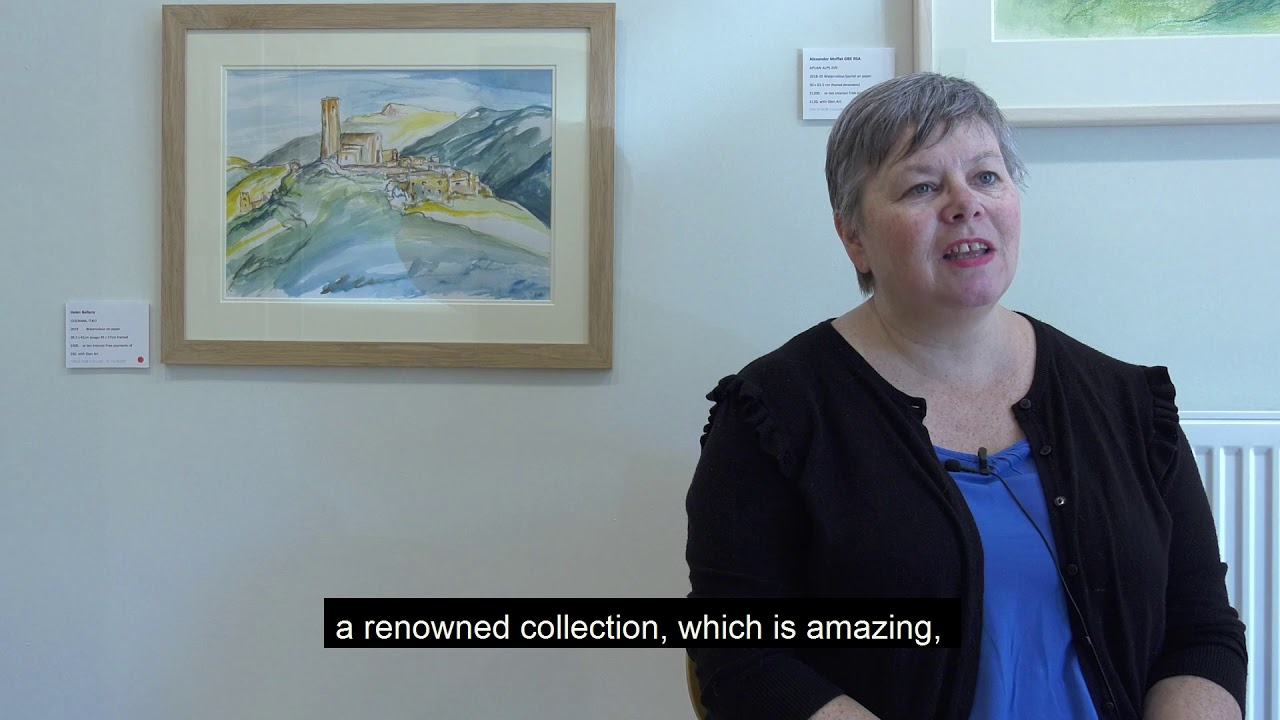 Discussing 'East Neuk' and lockdown with Beth from the Junor Gallery St Andrews.