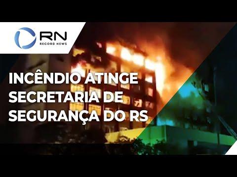 Dois bombeiros estão desaparecidos após incêndio na Secretaria de Segurança do RS