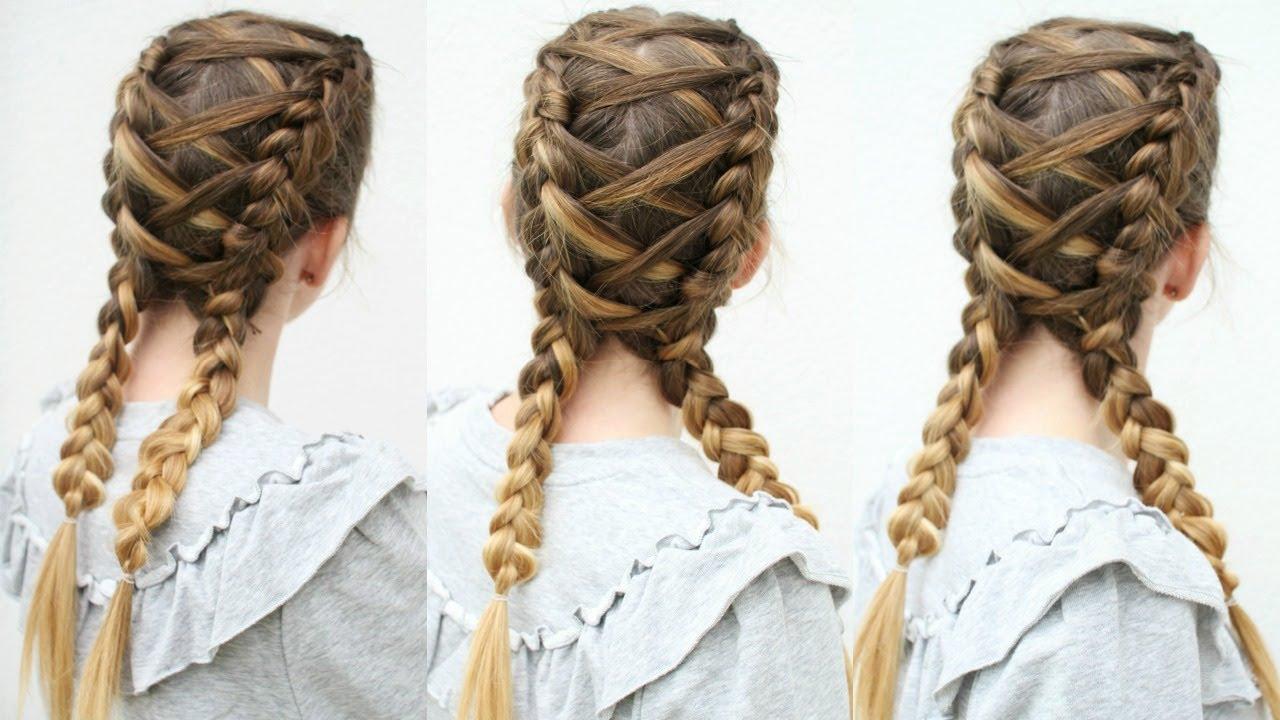 criss cross dutch braids | braided pigtails | braidsandstyles12