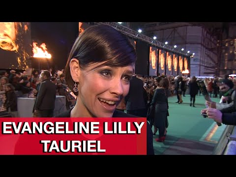 The Hobbit 3: Tauriel Evangeline Lilly Interview - The Battle of the Five Armies World Premiere