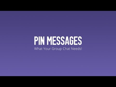 Pin Messages in Your Group Chats - YouTube