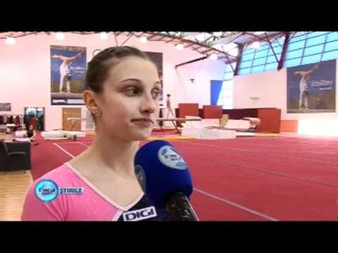 Team Romania before European Championship gymnasti...
