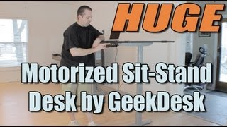 Huge Motorized Sit-stand Desk By Geekdesk