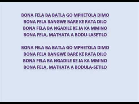 Tuks Senganga - Bona Fela (Lyrics)