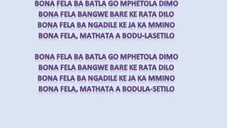 Download Tuks Senganga - Bona Fela (Lyrics) MP3 song and Music Video