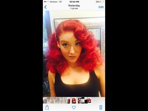 red/hot pink viral shampoo makeover