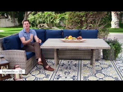 All Weather Wicker Sofa Sectional