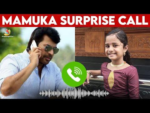 നന്നായിട്ടുണ്ട് Avarthana 👏 | Mammootty Surprise Call to Instagram Viral Kid | Avarthana Sabarish