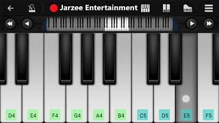 Kaun Tujhe Slow Version Mobile Piano Tutorial with Notes | Jarzee Entertainment