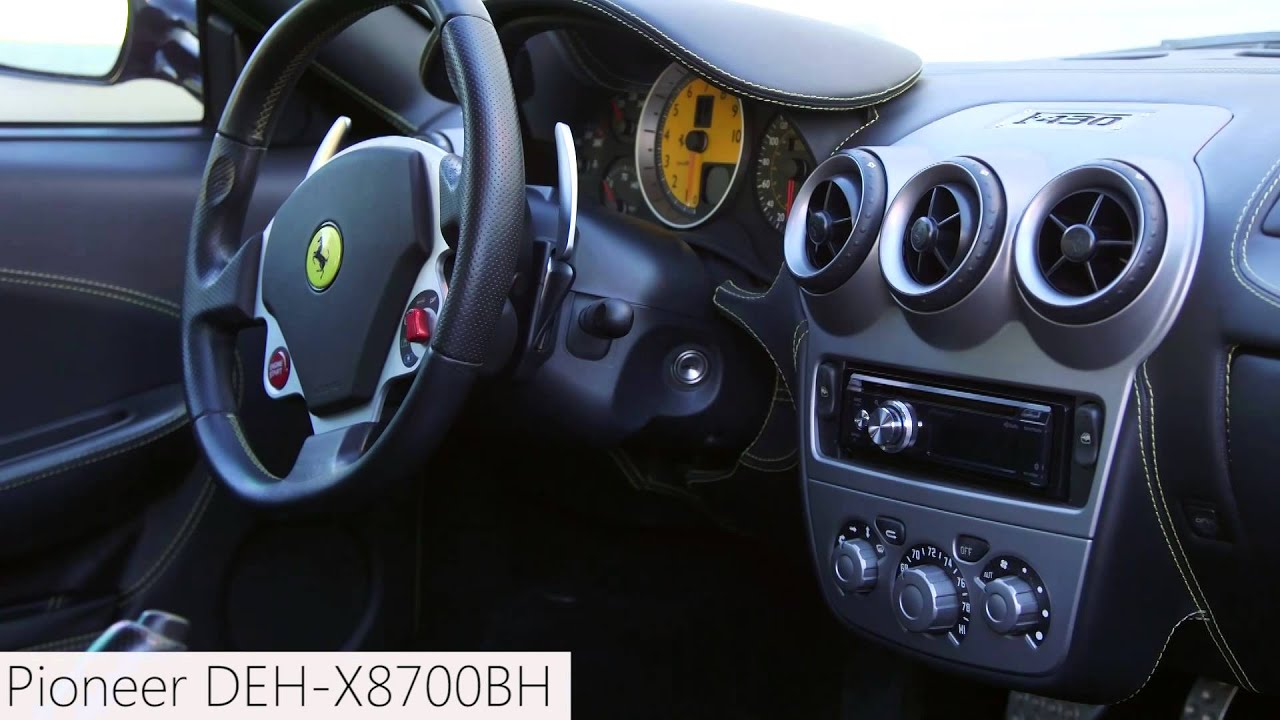 Finished Radio Installation In A Ferrari - Pioneer Deh-x8700bh Single Din Radio