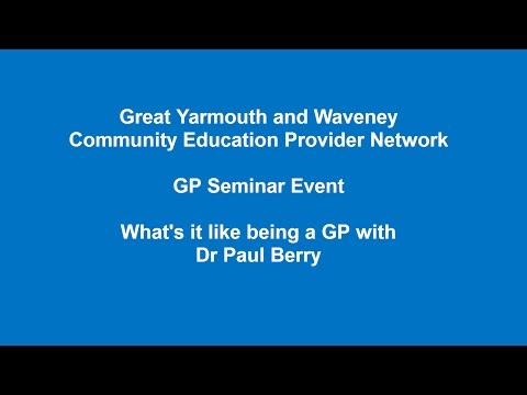 What's it like being a GP?