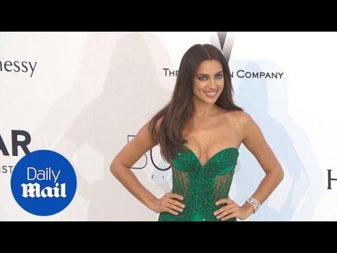 Irina Shayk wears unusual beaded green gown to amfAR gala - Daily Mail thumbnail