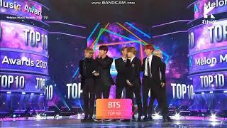 171202 bts win top 10 2017 melon music award