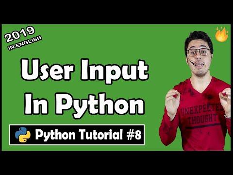 Taking user input in Python    Python Tutorial #8 thumbnail