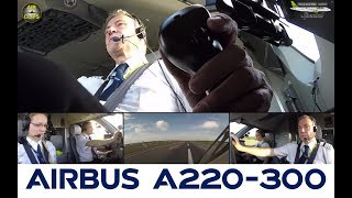 Air Baltic Bombardier CS300 Multicam Cockpit Takeoff, Stunning Sidestick Cam! [AirClips]