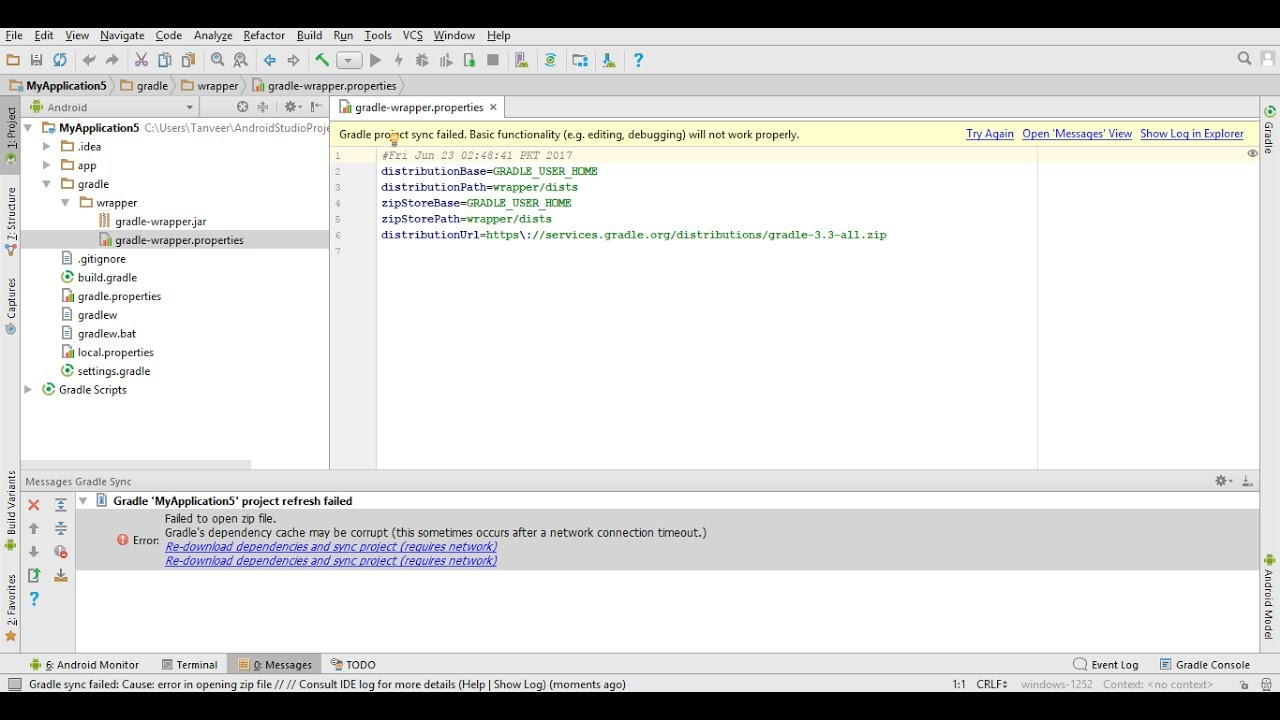 Solved Gradle Dependency Cache May Be Corrupt Android Studio Youtube