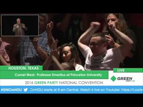 Amazing Cornel West Speech at Green Party Convention