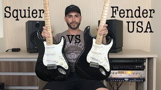 Squier vs Fender Americana