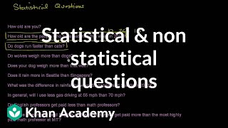 Statistical and non statistical questions | Probability and Statistics | Khan Academy