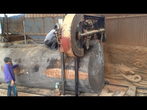 Awesome Biggest Wood Sawmill Fastest Cutting Work - Heavy Sawmill Machine WoodWorking