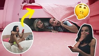 OVERNIGHT CHALLENGE UNDER OUR FRIEND'S BED!!