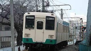 [爆音警笛あり]上信電鉄250形+300形 南高崎駅付近通過