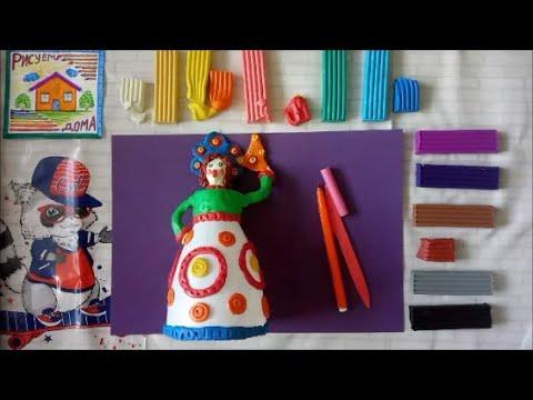 Дымковская игрушка своими руками из бутылки