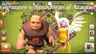 Clash of Clans - Ataque con Gigantes y Sanadoras