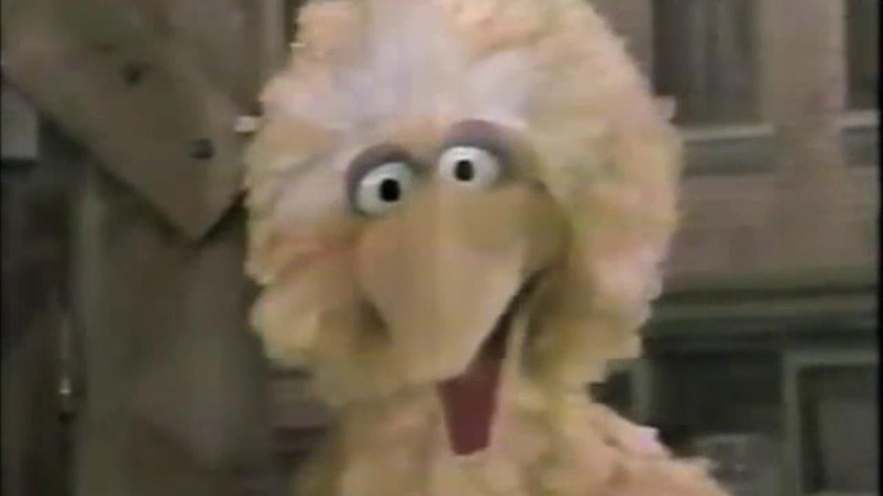 Sesame Street - Snuffy Jumps on Big Bird's Trampoline