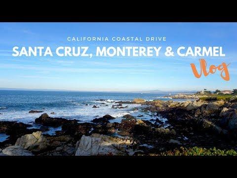Road Trip along the California Coast: Santa Cruz, Monterey & Carmel   Berkeley VLOG