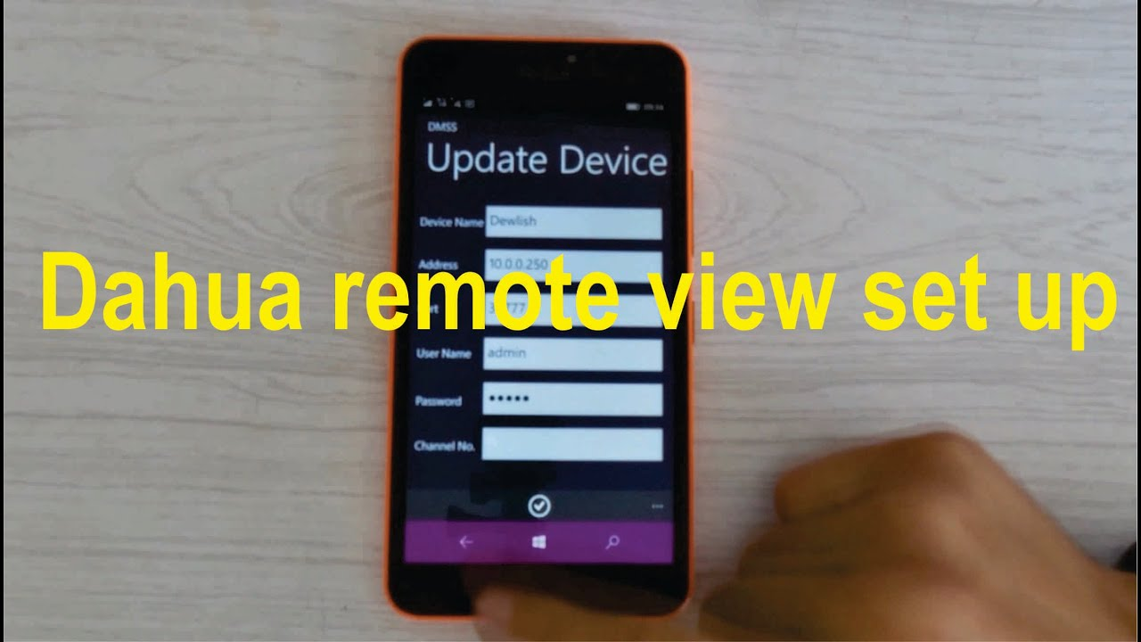 How to set up remote view on cell phone for Dahua NVR